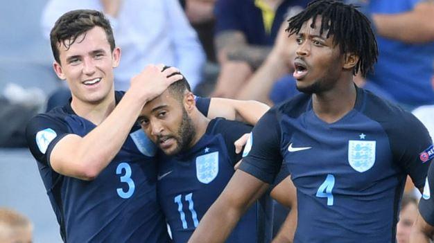 Nathan Redmond gjorde mål för England U21