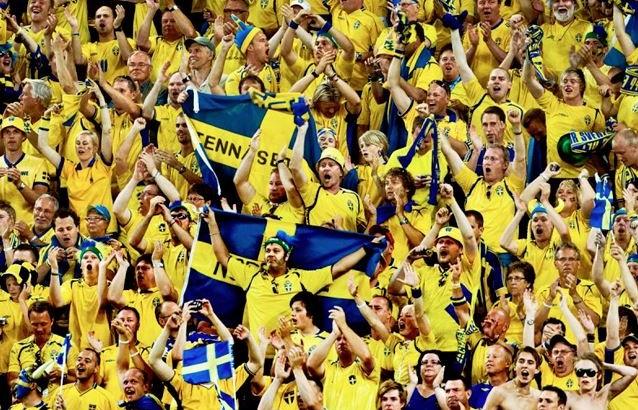 Svenska Fans Fotboll Blågult