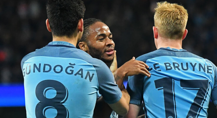 Manchester City Gundogan De Bruyne Sterling