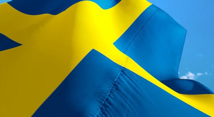 maxad svensk flagga i 3d