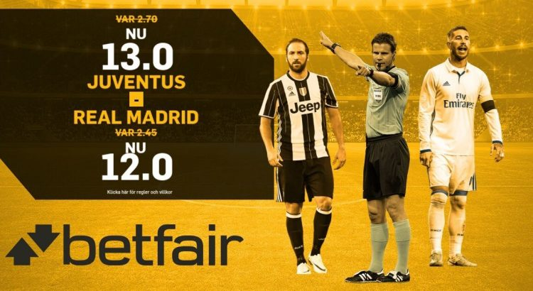 betfair oddsboost juventus-real madrid