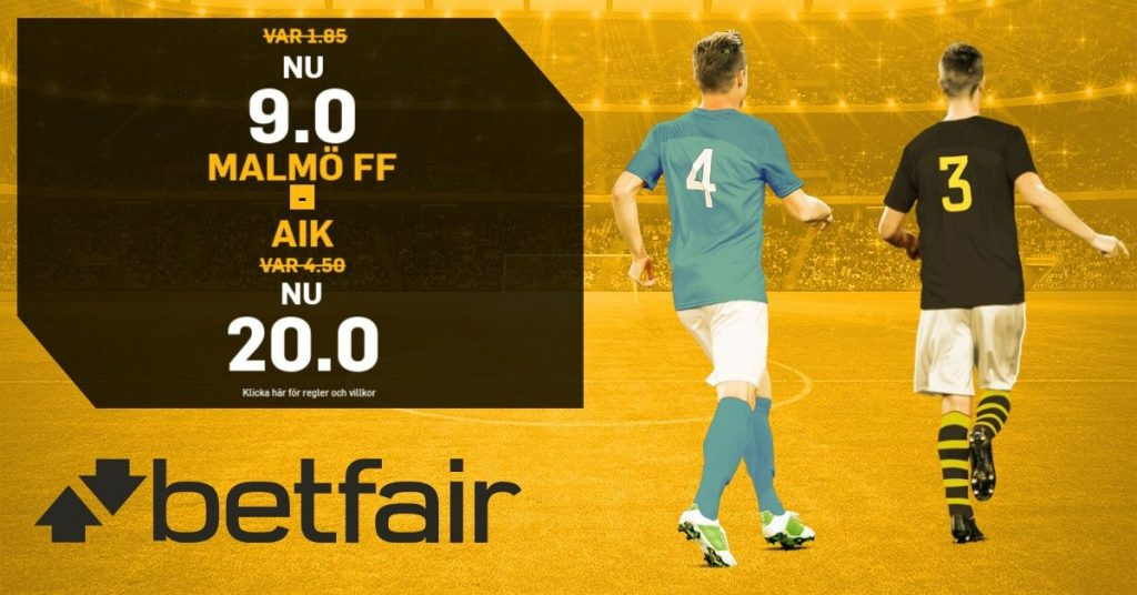 boostade odds MFF-AIK betfair