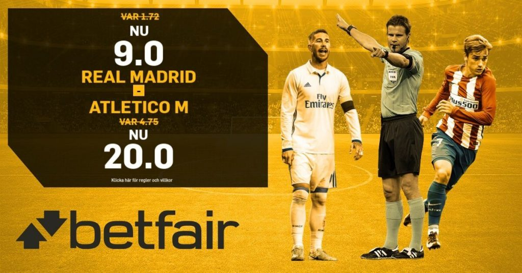 oddsboost betfair real-atletico