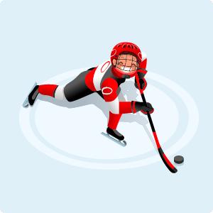 spela på hockey