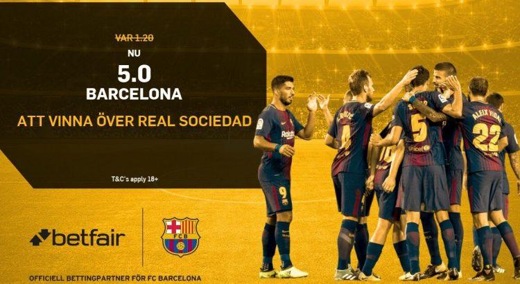 boostade odds barcelona real sociedad betfair