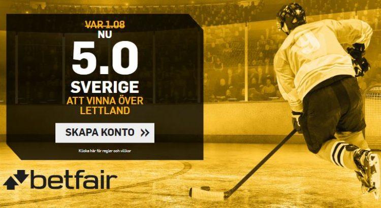 boostade odds tre kronor lettland betfair