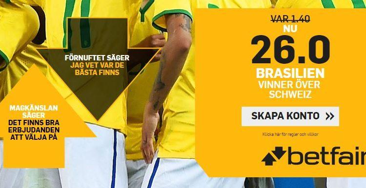 oddsboost betfair brasilien schweiz