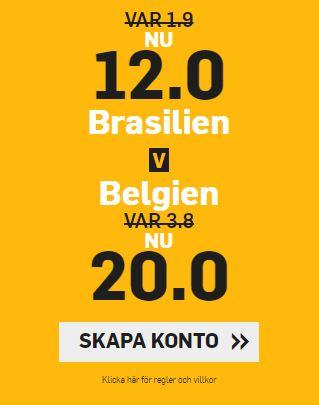 betfair oddsboost brasilien belgien vm 2018