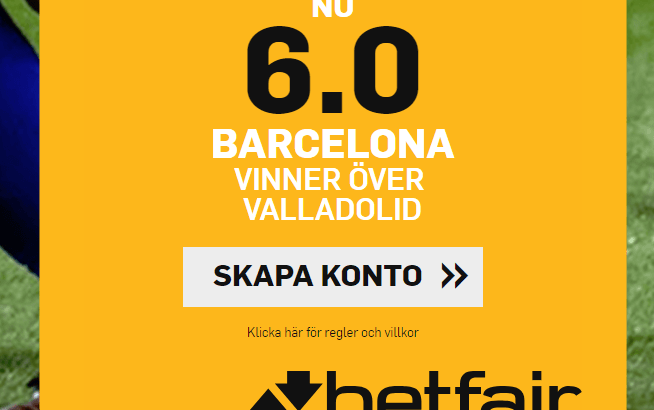 Barcelona Valladolid boost Betfair