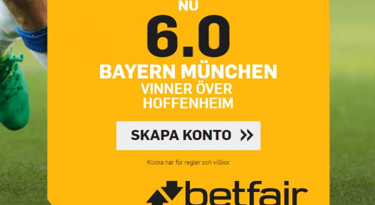 betfair oddsboost bayern hoffenheim