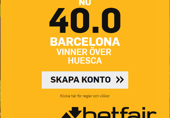 Barcelona Huesca boost Betfair