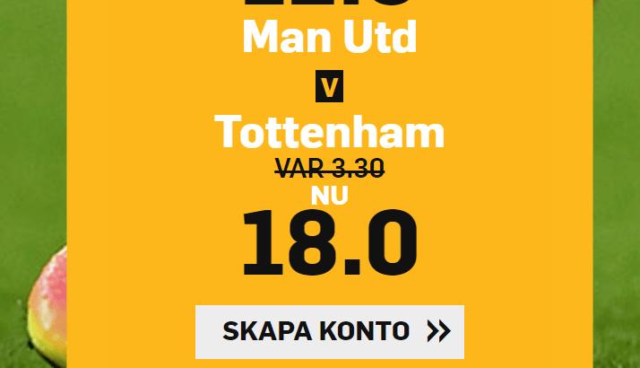 Manchester United Tottenham boost Betfair