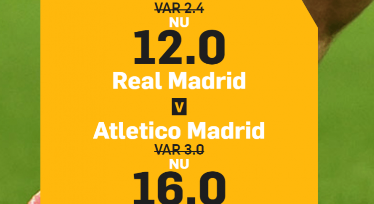 boostade odds atletico vs real