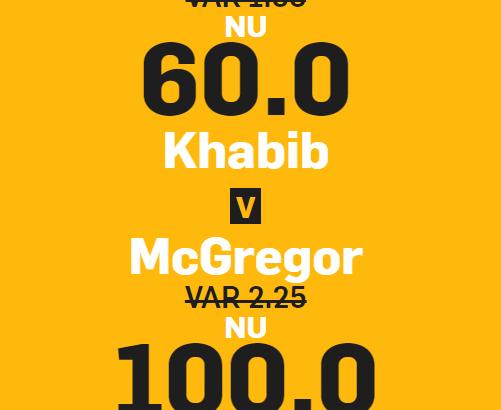 Conor vs khabib oddsboost 100 60
