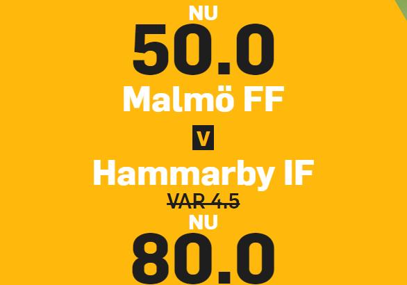 Oddsboost Malmö