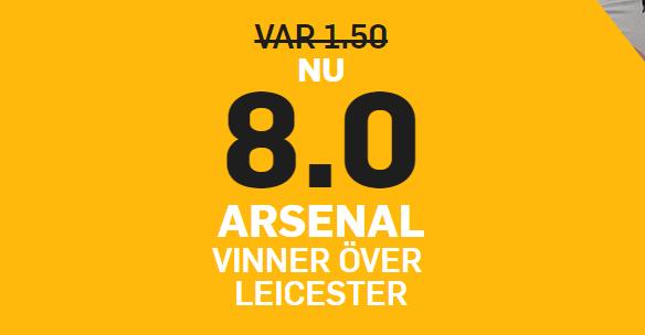 Arsenal vinner oddsboost
