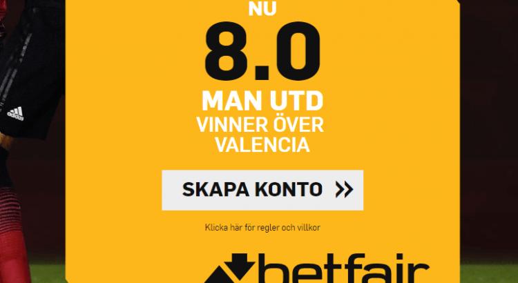 Betfair boost Man U Valencia