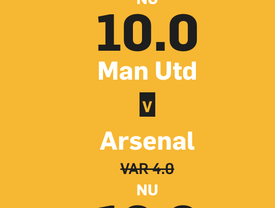 boostade odds united gunners