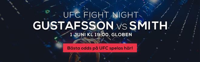 Gustafsson vs Smith 1 juni kl 1900 Globen