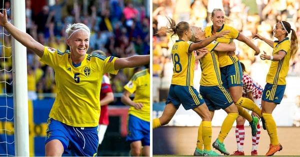 Sverige Kanada dam vm 2019 åttondelsfinal