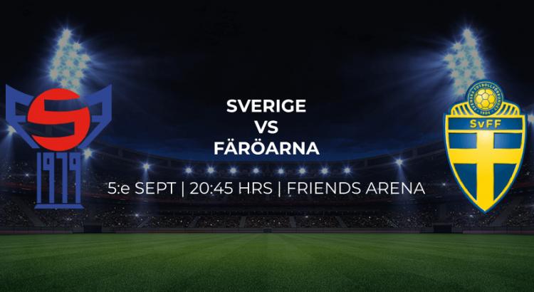 Sverige möter Färöarna i EM 5/9 -19
