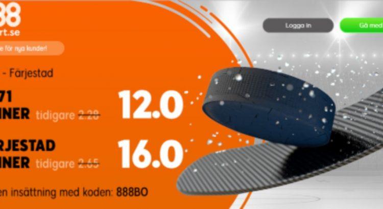 888 Sport oddsboost HV71-Färjestad