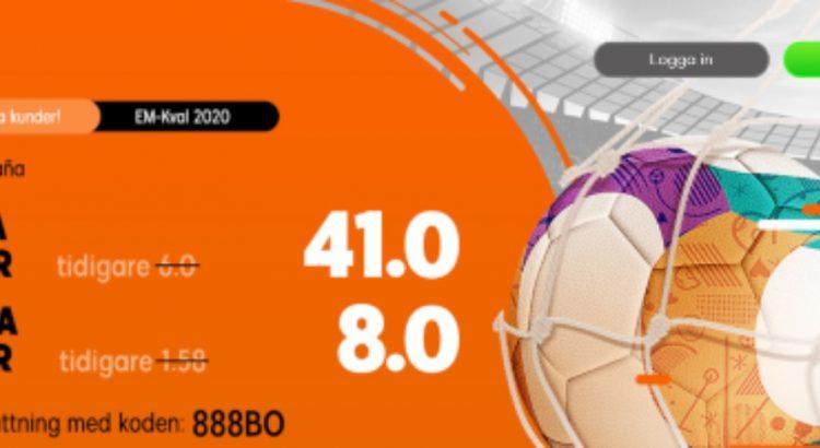 888Sport Sverige-Spanien erbjudande