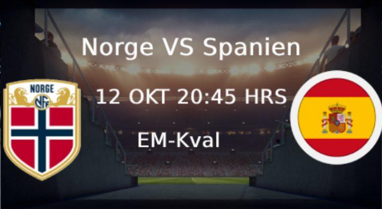 Norge Spanien Em kval