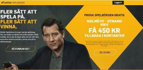 Europa League Betfair Malmö - Dynamo Kiev