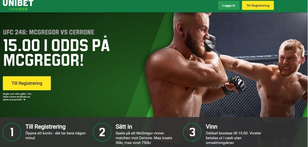 UFC 246 - McGregor vs Cowboy Cerrone
