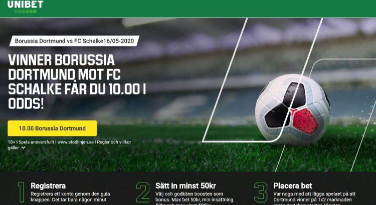 Unibet offer Ruhr-derby - Borussia Dortmund - FC Schalke